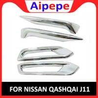 ABS Traseiro Luzes de Nevoeiro Da Frente Da Lâmpada Sobrancelha Pálpebra Capa Guarnição Chrome Fit For Nissan Qashqai J11 2019 2020 Auto Acessório