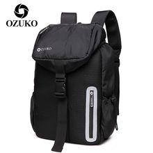 Ozuko школьный портфель для подростков мужчин рюкзак ноутбука