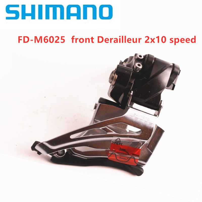 <font><b>Shimano</b></font> <font><b>Deore</b></font> M6025 <font><b>2x10</b></font> speed update m615 <font><b>2x10</b></font> speed High Clamp DownSwing front Derailleur DualPull image