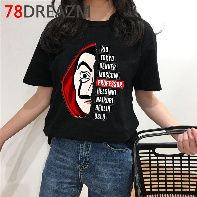 La Casa De Papel T Shirt Men Funny Money Heist Graphic Tee Summer Top House Of Paper Kawaii T-shirt Unisex Oversized Tshirt Male