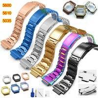 DW 5600 Strap Watch band bezel 5600 Metal GWM5610 GW5000 Stainless Steel Watchband Case Frame for casio Bracelet Repair Tools