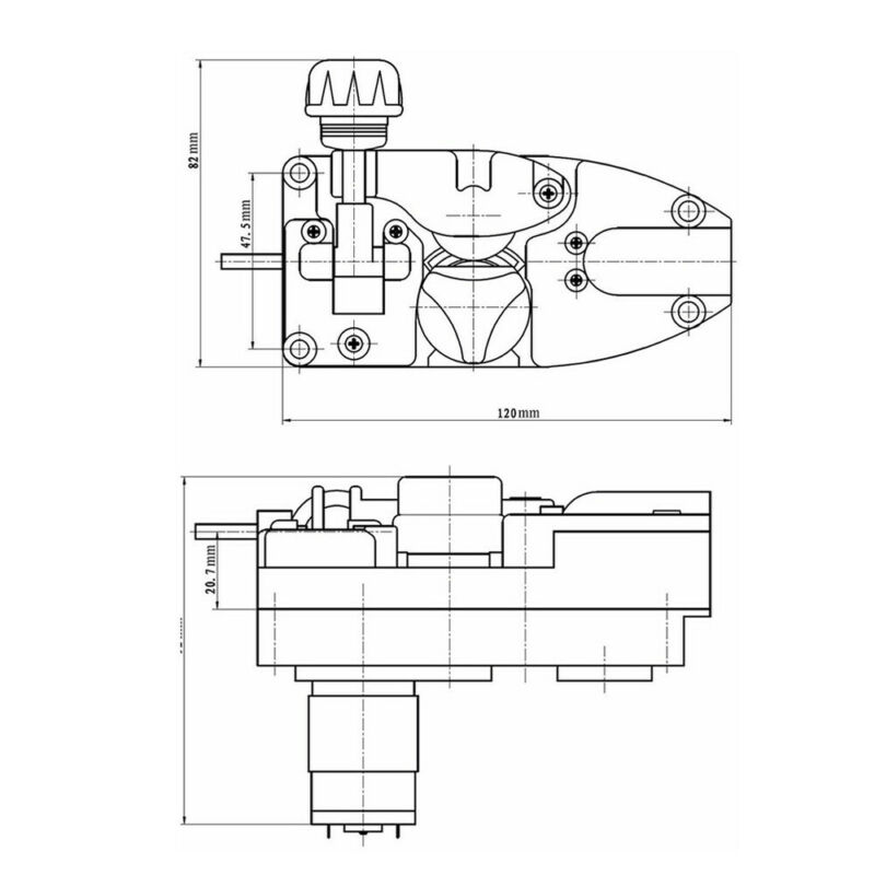 1 stücke 24V Draht Feed Schweißer Motor Hafen Fracht MIG Schweißen Kunststoff Für 0,6-1,0mm
