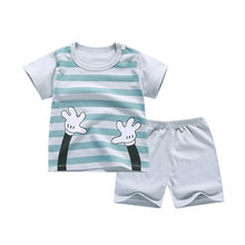Baby Boys Sets Girls suits Bebes Summer Cotton Print T-Shirt+Short Pants 2Pcs Outfits Clothing Baby Boys Fashion Sports Costume(China)