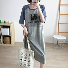 Breastfeeding-Dress Maternity-Wear Raglan-Sleeves Pregnant-Clothes Casual Pure-Cotton