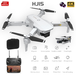 2020 NEW HJ15 RC Quadcopter WIFI FPV Mini Drone With Wide Angle HD 4K camera Height Hold Mode Gesture photo video Foldable Drone