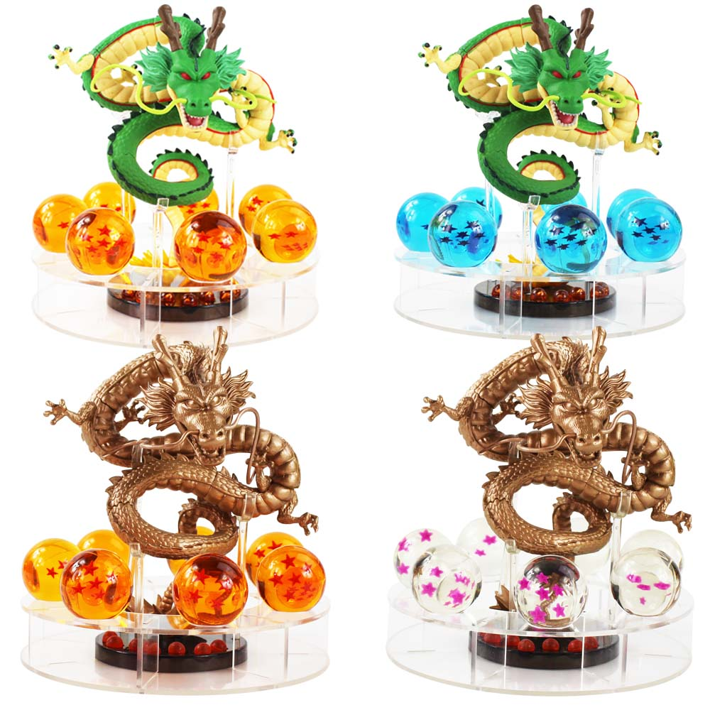 15cm Dragon Ball Z Action <font><b>Figure</b></font> Shenron Shenlong <font><b>Dragonball</b></font> Z <font><b>Figures</b></font> <font><b>Set</b></font> <font><b>Dragonball</b></font> 7pcs 3.5cm crystal Balls+Shelf Figuras DBZ image