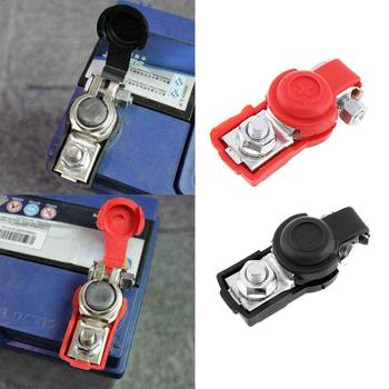 Auto Car Battery Terminal Connector Battery 1 Pair Quick Cap Clamps Clips Release Terminals Truck Caravan Battery Copper Fo L8Y1 image