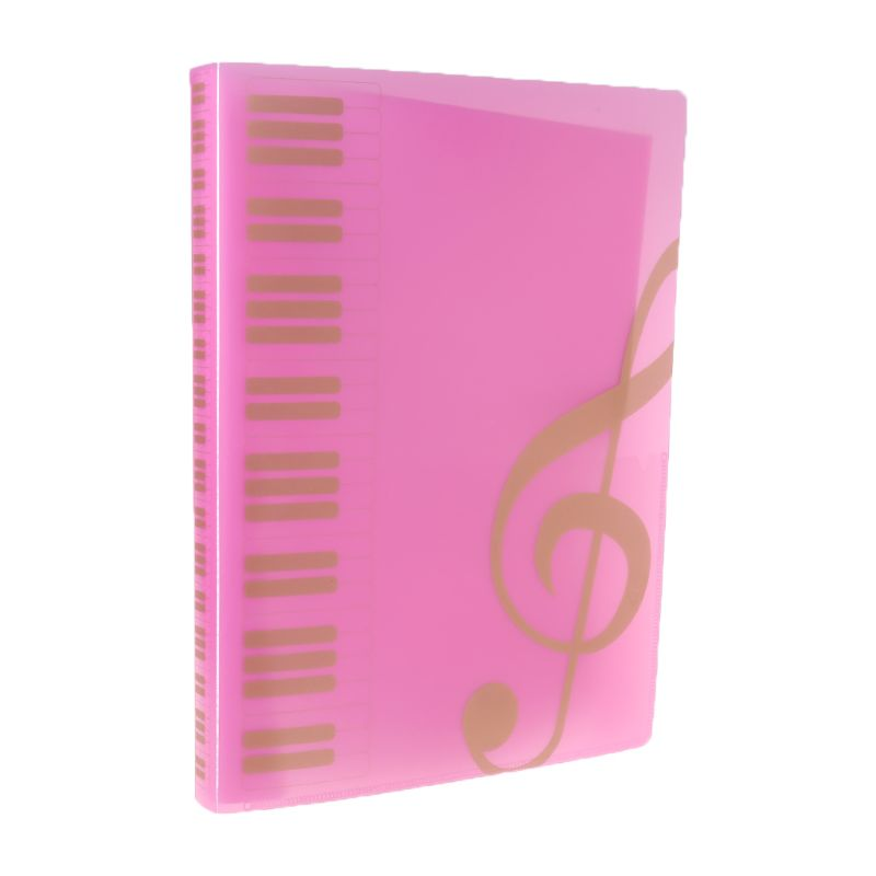 40 Pages A4 Size Piano Music Score Sheet Document File Folder Storage Organizer