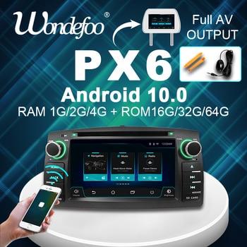 PX6 PX5 2 din Android 10 4G 64G reproductor de dvd del coche para Toyota Corolla E120 BYD F3 GPS radio multimedia estéreo navegación 8 CORE WIFI