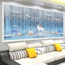 Алмазная живопись «сделай сам» вышивка крестиком в гостиной