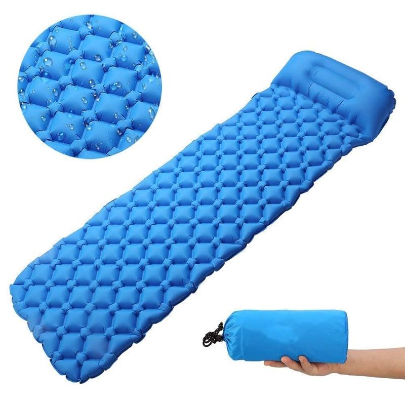 Camping Sleeping Pad Ultralight, Self Inflating Sleeping Pad Camping, Backpacking, Hiking With Pillow, Lightweight, Waterproof,
