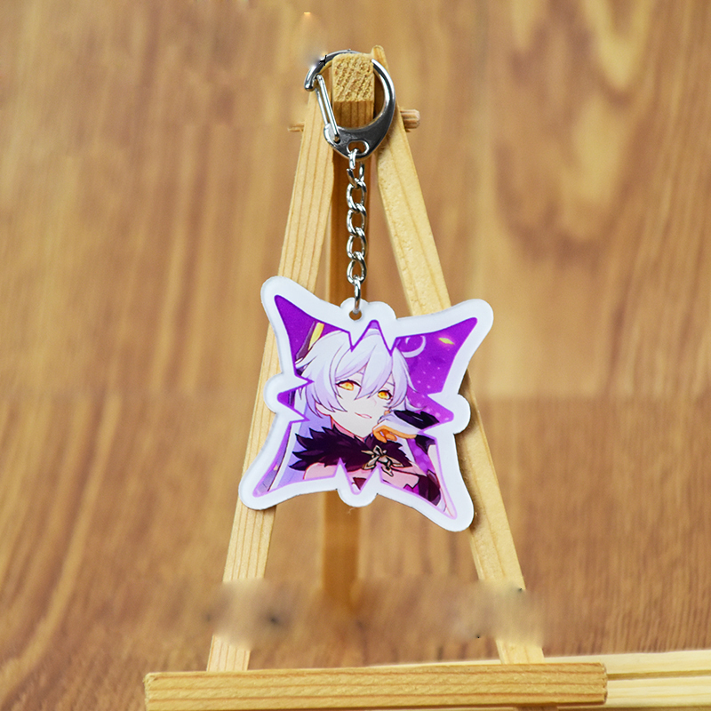 Anime Honkai Impact 3 Kallen·Kaslana Cosplay Small Pendant Keychain Acrylic Double-sided Cartoon Pattern Pendant Ornaments