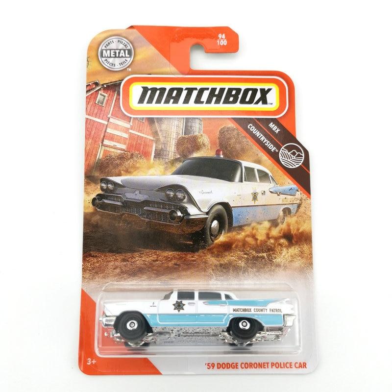 2020 Matchbox Car 1:64 Sports Car 59 DODGE CORONET POLICE CAR Metal Material Body Race Car Collection Alloy Car Gift