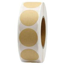 500шт / рулон крафт бумаги сплошной цвет этикетки маркировка круглых стикера еды печать подарочная скрап-украшения канцелярские наклейки
