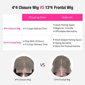 Image 5 - Malaysian Lace Front Human Hair Wigs Straight Pre Plucked Hairline 8 30Inch 150% Remy Hair Glueless 4x4 Lace Closure Wigs