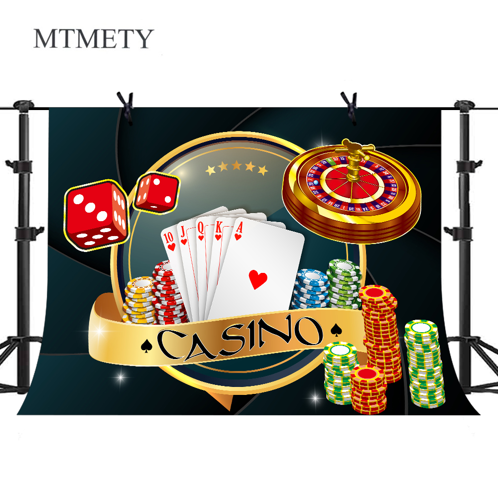 Las Vegas Casino Background Roulette Poker Dice Entertainment Party Banner Photography Backdrops Photocall Photo Studio x-33(China)