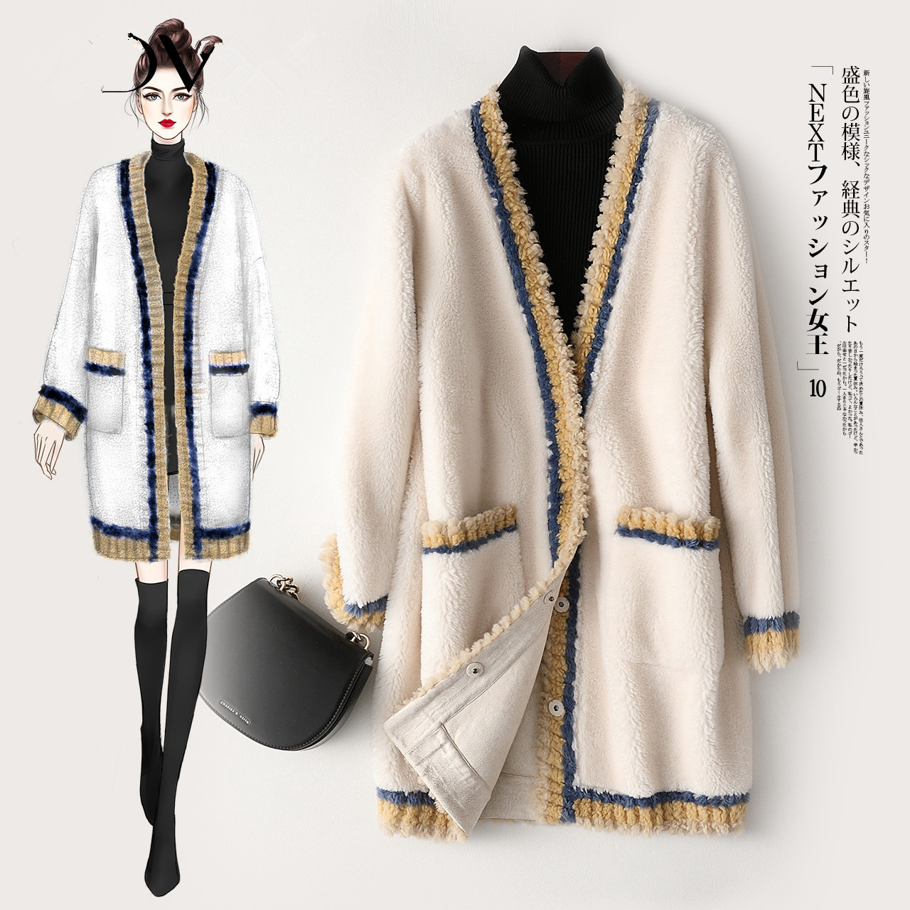 Coat Fur Real Winter Jacket Women Clothes 2020 Sheep Shearling Wool Coat Female Jacket Korean Outwear Manteau Femme MY