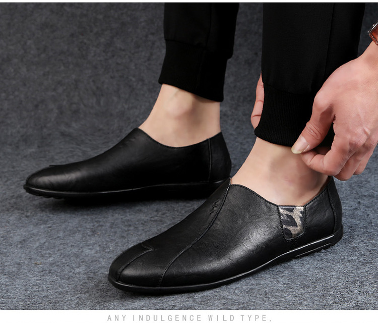 Solid Spring Autumm Casual Loafers Shoes for Men Classics Concise Light Flat Slip On Shoes Fashion Leisure Driving Shoes 49