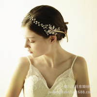 Le Liin Handmade Pearl Flower Hair Vine Bridal Headpiece Bridal Hair Jewelry