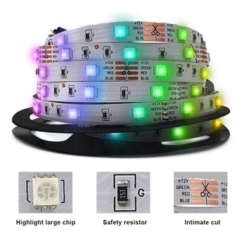 5 Meters Flexible LED Lights IP65 150 LEDs Rope Lights Bluetooth Music Lights with Remote Control for KTV Home Decor TB фото