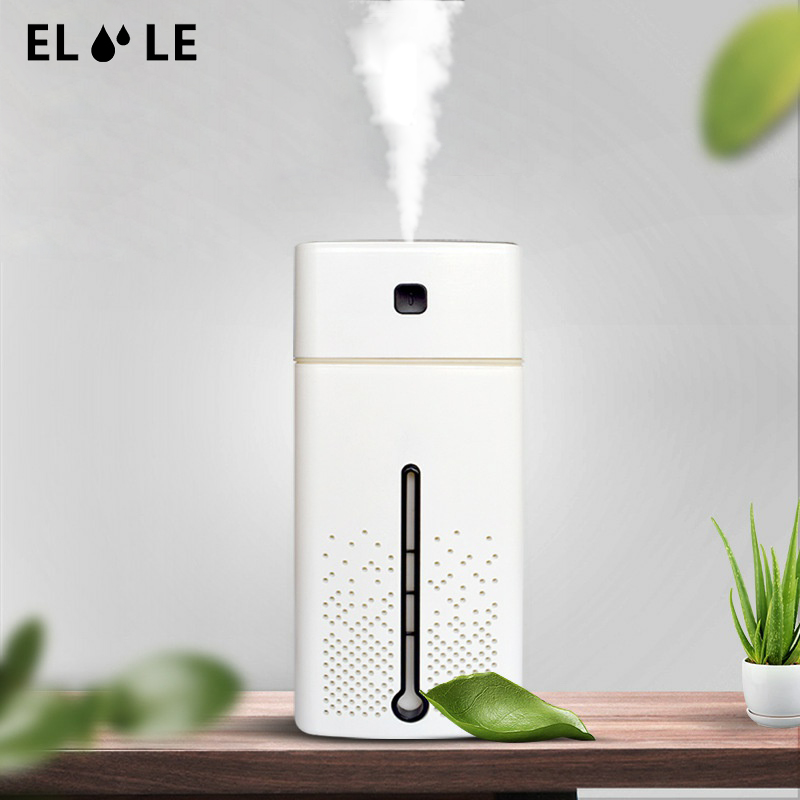 ELOOLE 1000ML Air Humidifier For Home USB Aroma Diffuser LED Backlight For Office Mist Maker Refresher Humidification Gift