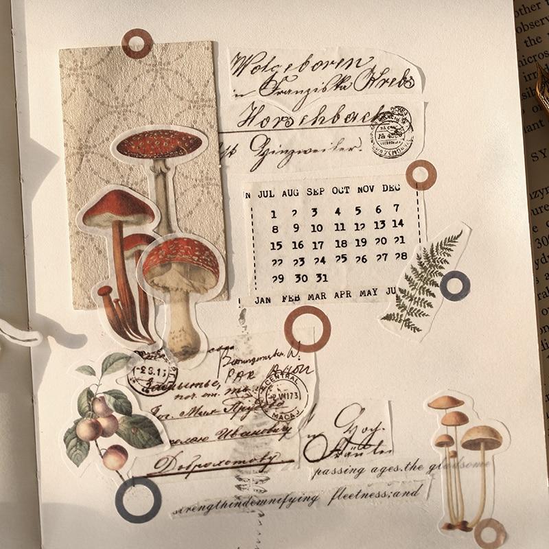 40pcs/bag Vintage Museum Stickers Set Decorative Sticker Decoration For Scrapbooking Diy Crafts Album Bullet Journal