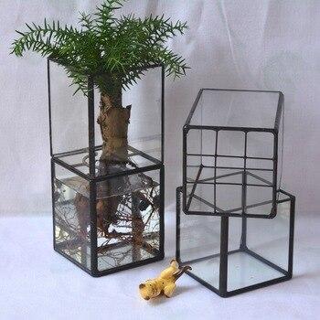 Retro Glass New Creative Fleshy Pots Erect Water Glass Pots Creative Vase Crafts Flower Pots Decorative Plant Pots Decorative