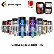 Original Geekvape Zeus dual RTA  Zeus RTA Dual coil version 5.5ml RTA zeus atomizer leak proof top airflow system E Cigarette