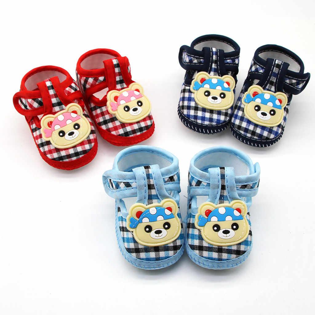 Zapatos de bebé recién nacido bebé niños niñas lindo entramado Pequeño Oso Prewalker suela suave Zapatos únicos Zapatos para niños