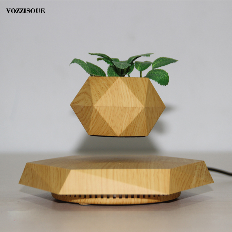 Hot Sale Levitating Air Bonsai <font><b>Pot</b></font> Rotation <font><b>Magnetic</b></font> Levitation Suspension <font><b>Flower</b></font> Floating <font><b>Pot</b></font> Potted Plant Office Desk Decor image