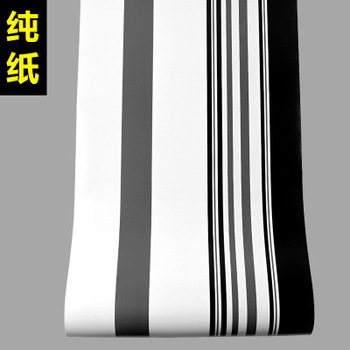 black and white gray stripe wallpaper for TV background film living roomModern minimalist High grade paper atmosphere fashion