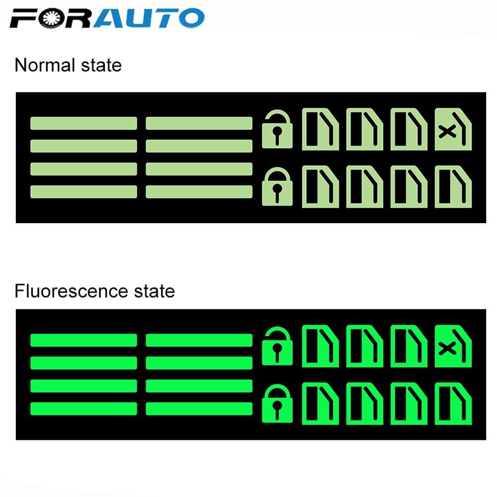 FORAUTO Car Door Window Luminous Button Sticker Lift Window Car Sticker Car Styling For Mitsubishi ASX Outlander 2013 2016 2018