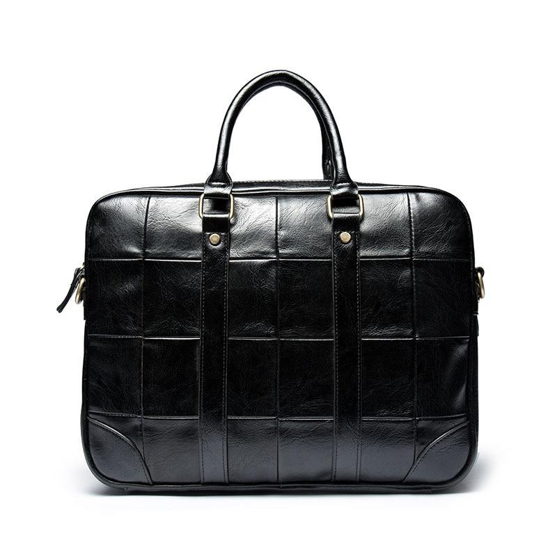 Checked Business Handbags Retro Men's Casual Men's Handbags Fashion Computer Briefcase