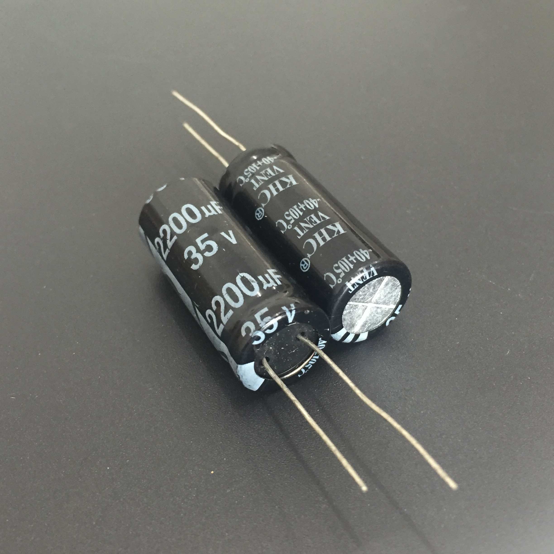50PCS 2200uF 35V Electrolytic Capacitor 105°C 16x25mm