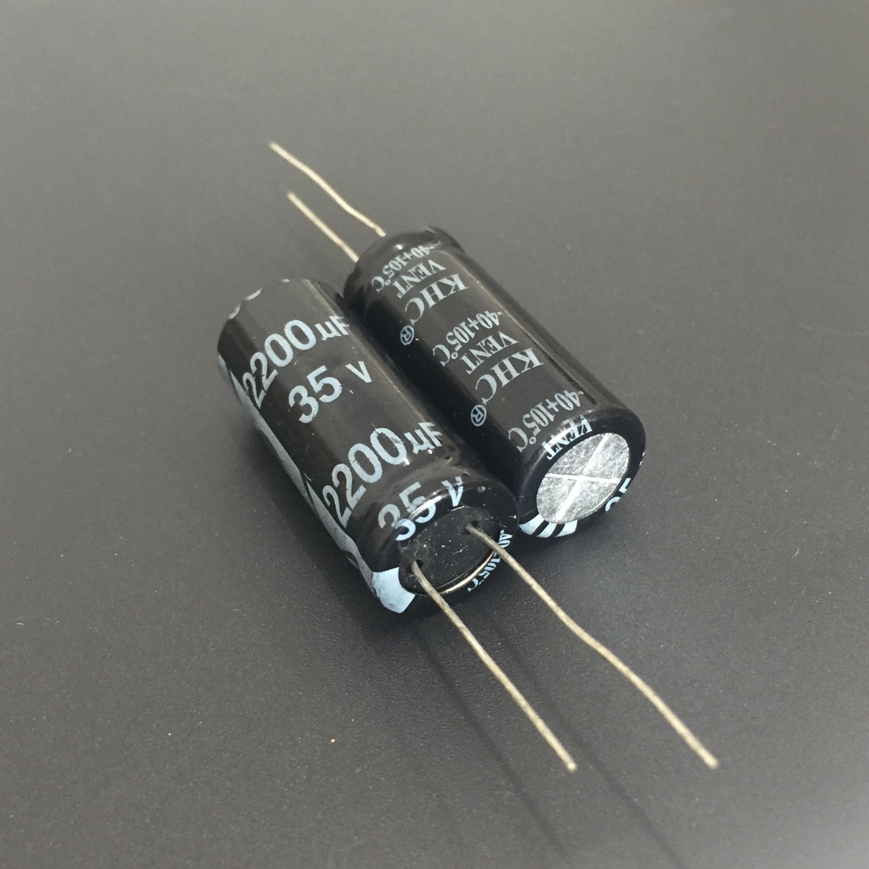 10pcs 2200uF 35V KHC VENT 12.5X31.5mm High Quality 35V2200uF Aluminum Electrolytic Capacitor