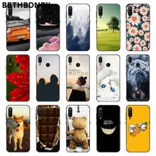 Cat Bumper paiting Soft black Phone Case for Xiaomi 8 9 se Redmi 6 6pro 6A 4X 7 note 5 7(China)