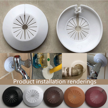 1pcs Plastic wall hole duct cover shower faucet angle valve Pipe plug decoration cover snap-on Plate kitchen faucet accessories