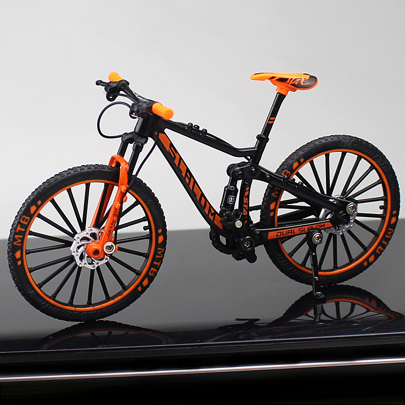 1/10 Scale Metal Road Bicycle Model Toys Curved Racing CycleCross Mountain Bike Diecast Collection Toys Children Gifts