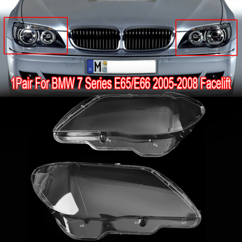 цена на MagicKit Car Clear Headlight Lens Plastic Cover Suitable For BMW 7 E65 E66 LCI 2005-2008 Automobiles head light lamp Lens