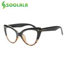 SOOLALA-gafas de lectura con ojos de gato para mujer, anteojos de lectura con luz azul, marco de gafas de ordenador con prescripción + 0,5 a 4,0