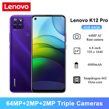 Lenovo K12-Pro Android 64GB 4gbb Octa Core Fingerprint Recognition 64mp New Mobile-Phones