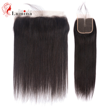 Straight Closure 4x4/13x4 Lace Frontal Hand Tied Human Hair Closure Free/Middle/Three