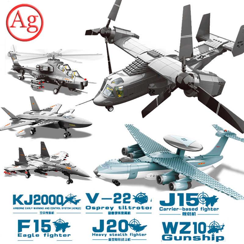 Wange Perang Modern Blok Bangunan Kota Batu Bata Pesawat Militer Kompatibel Legoed Tempur Tempur Jet Teknik Mainan Lepinblocks King