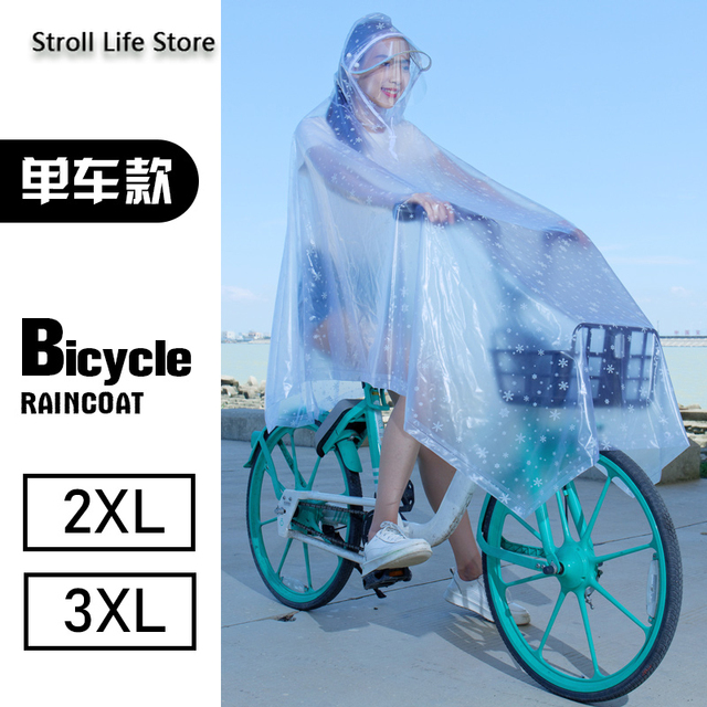 Electric Motorcycle Rain Suit Raincoat Adult Plastic Suit Riding Bicycle Clear Rain Coat Rain Poncho Cover Capa De Chuva Gift 5