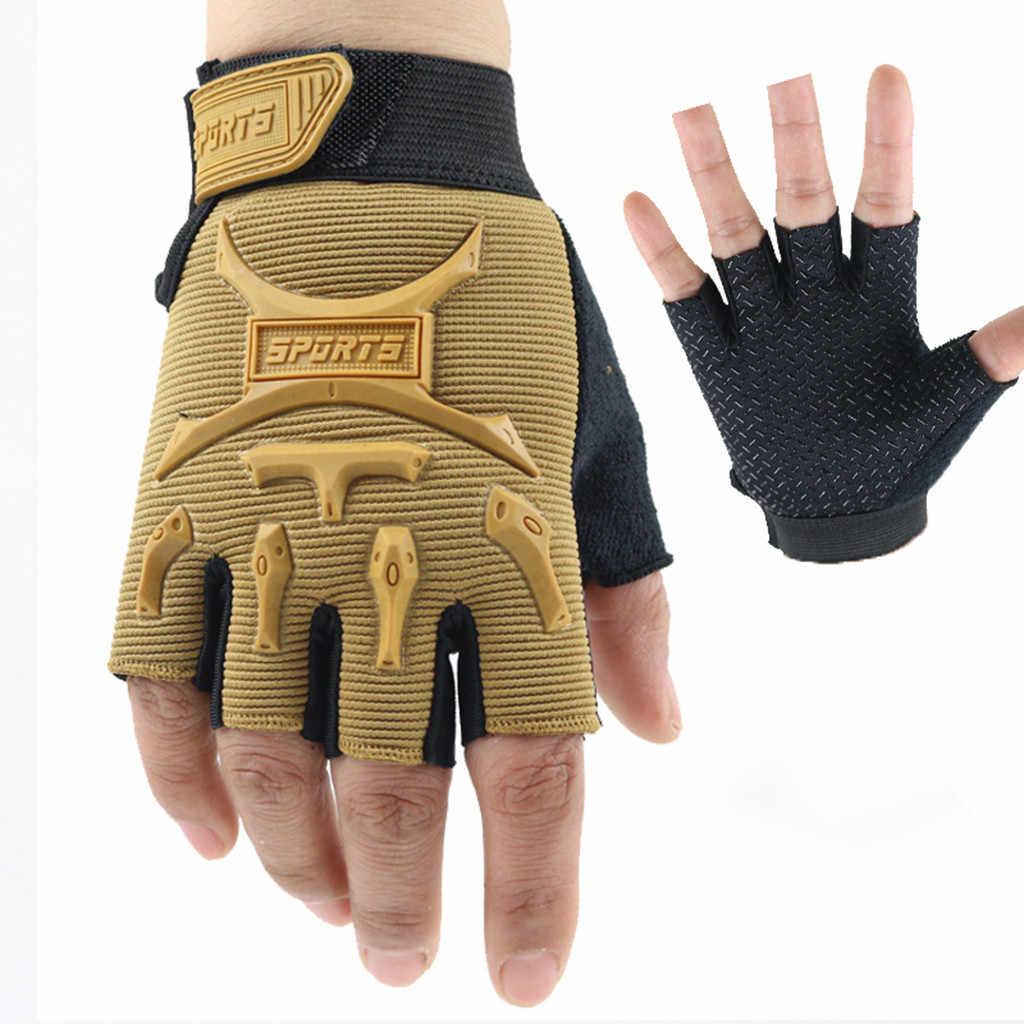 Tactical Fingerlose Handschuhe Hohe Qualität Military Schießen Paintball Airsoft Fahrrad Motocross Kampf Halb Finger Handschuh Männer L58