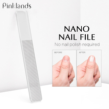 Transparent Nano Glass Nail File Professional Sanding Polishing Glass Cleanable Shiny Grinding Buffer Nail Art Manicure Tool недорого