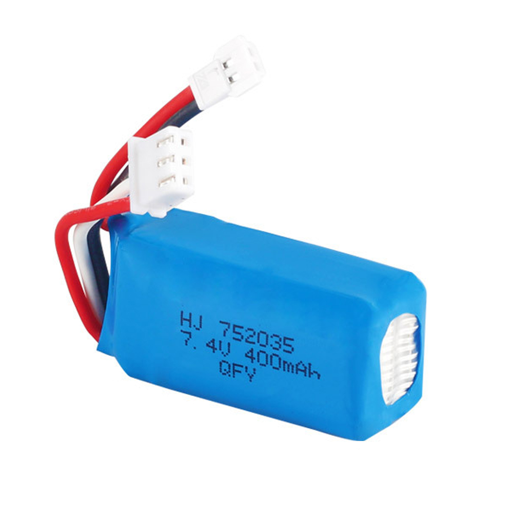 <font><b>7.4V</b></font> <font><b>400mAh</b></font> 752035 <font><b>Lipo</b></font> <font><b>Battery</b></font> For RC DM007 Airplane Quadcopter Drone Helicopter Toy Spare Parts 2s <font><b>7.4V</b></font> Lithium <font><b>Battery</b></font> XH2.54 image