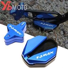 Для YAMAHA NMAX 155 125 NMAX125 NMAX155 2020 2021 мотоциклетная боковая подставка с ЧПУ увеличенная подставка и вспомогательная подставка