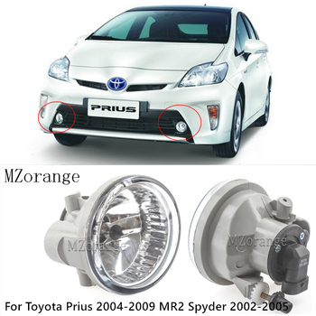 Car Front Fog Lights fog lamp for Toyota Prius 2004-2009 MR2 Spyder 2002-2005 Lower Bumper Foglamp Auto External Light