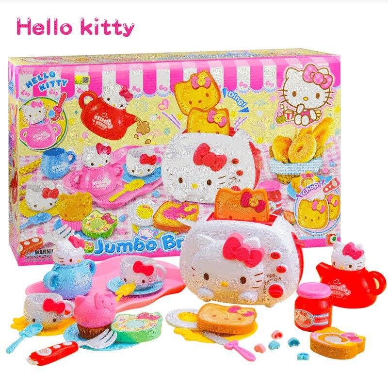 Hello Kitty Hello Kitty Toy GIRL'S Play House Set Model Kitchen Luxury Breakfast Bread Machine